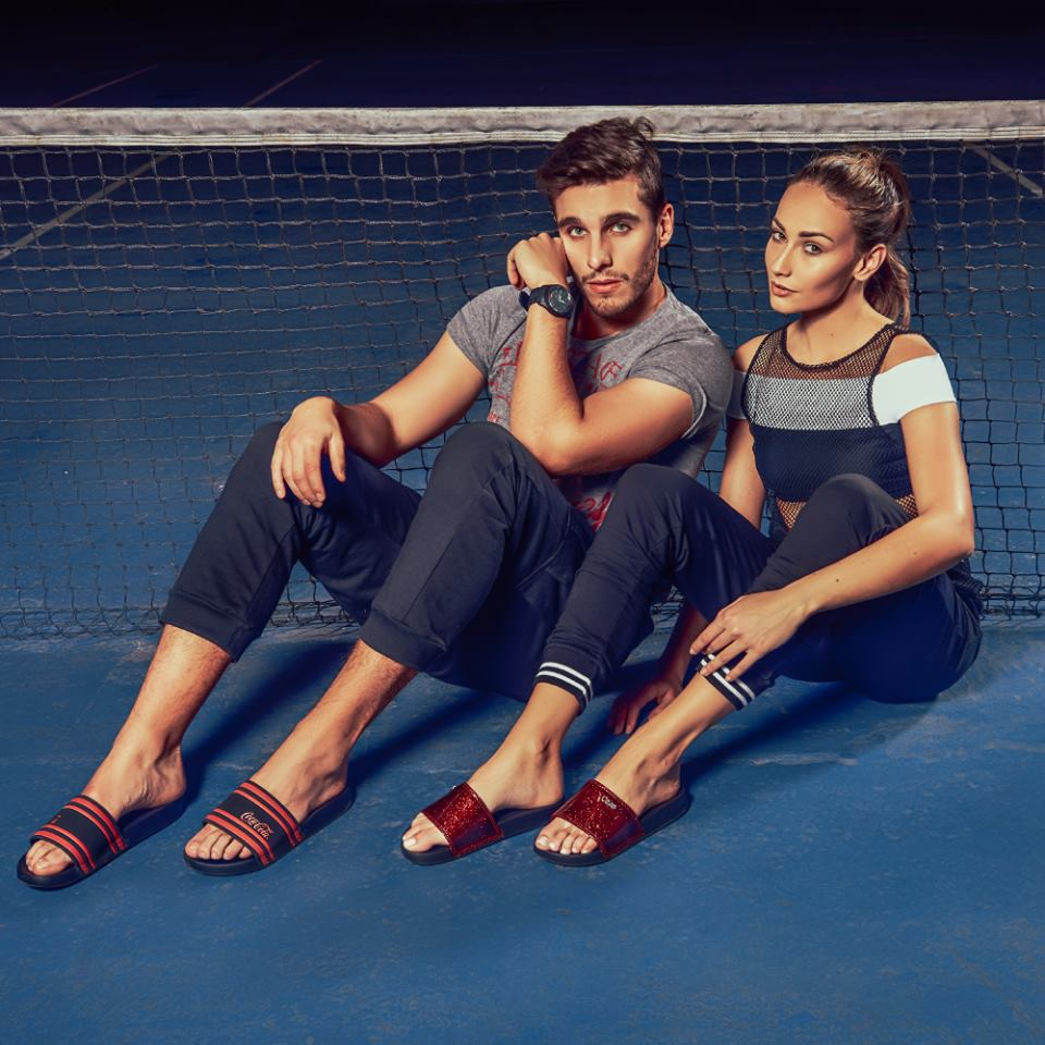 Suellyn Scheffer and Gregg for Coca Cola Shoes
